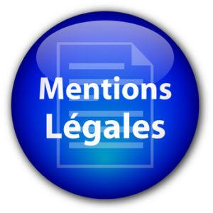 """Bouton rond """"Mentions Légales"""" (bleu)"""